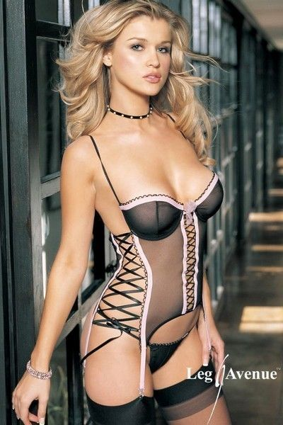 2 Piece Garter Cami with Side Lace Up (UK 10 - 12)