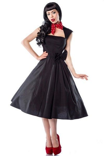 50's Style Black Evening Dress (UK 8)