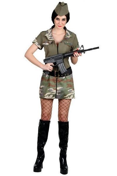 Army Corporal Cutie Fancy Dress Costume (UK 10 - 12)
