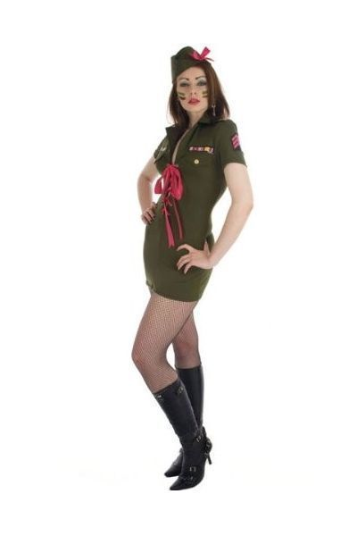 Army Platoon Commander Fancy Dress Costume (UK 6  -  8)