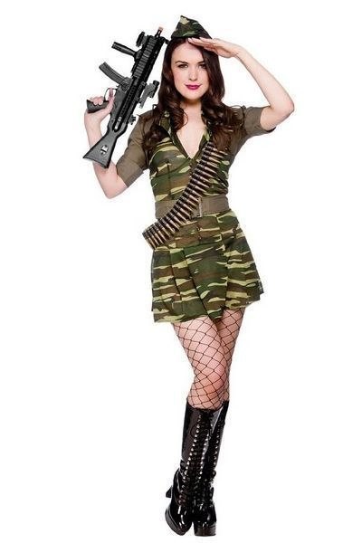 Army Private Tease Fancy Dress Costume (UK 6 - 8)