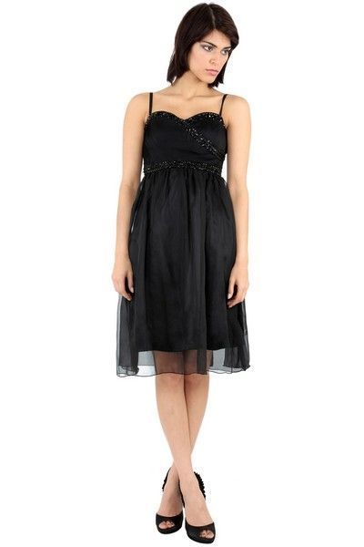Black Bead Baby Doll Dress (UK 8 / 10)