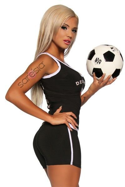 Black Football Clubwear Hot Pants (UK 8 / 10)