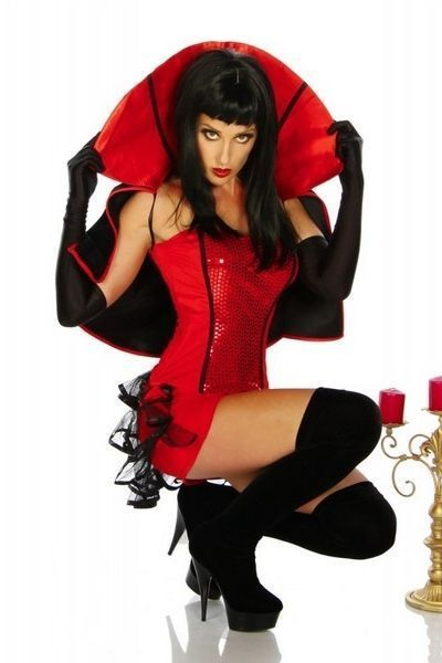 Blood Red Vampire Halloween Fancy Dress Costume (UK 8 - 10)