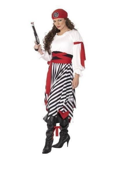 Buccaneer Gypsy Pirate Fancy Dress Costume (UK 16-18)