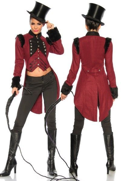 Burgundy Military Long Tail Coat (UK 12)