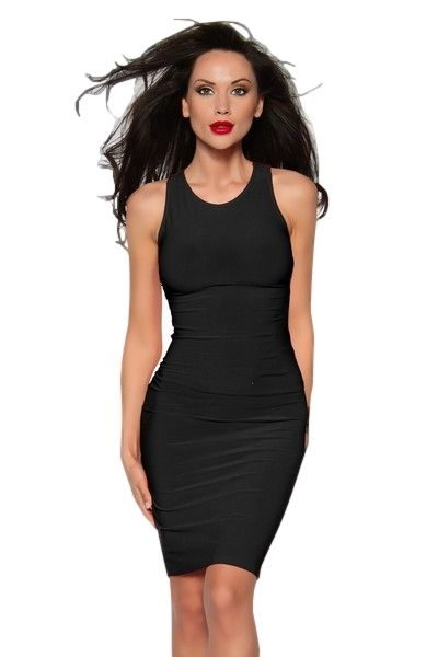 Classic Black Mini Dress With Criss Cross Straps (UK 10)