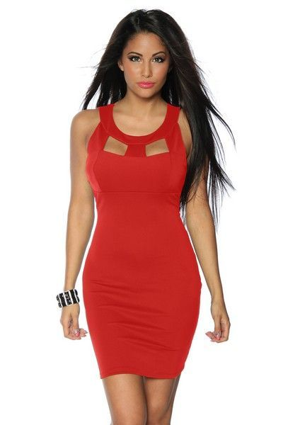 Classic Red Evening Mini Dress (UK 12)