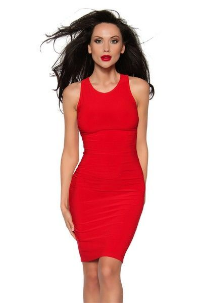 Classic Red Mini Dress With Criss Cross Straps (UK 10)