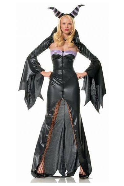 Demon Witch Goddess Halloween Fancy Dress Costume (UK 8)