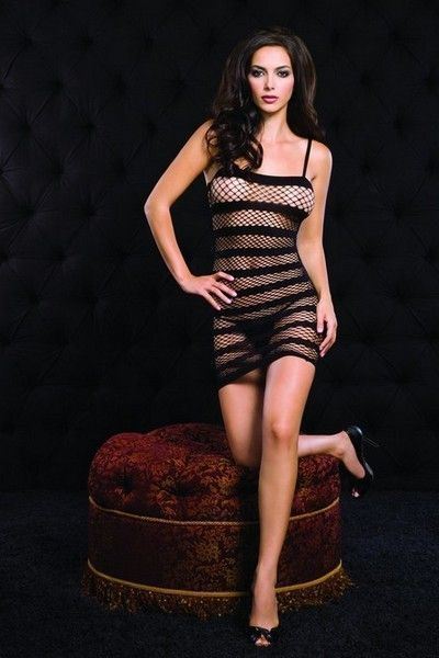 Diamond Net Clubwear Mini Dress (UK 8 - 12)