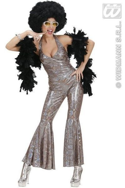 Disco Dancing Queen Fancy Dress Jumpsuit (UK 10 - 12)