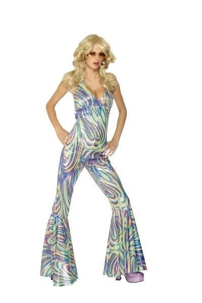 Disco Fever Dancing Queen Fancy Dress Catsuit (UK 16-18)