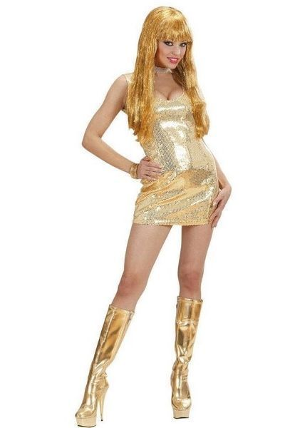 Disco Fever Gold Sequin Mini Dress (UK 14 - 16)