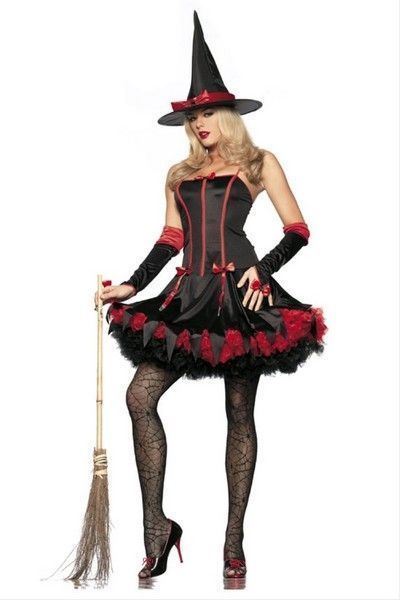 Fashion Witch Halloween Fancy Dress Costume (UK 8 - 10)