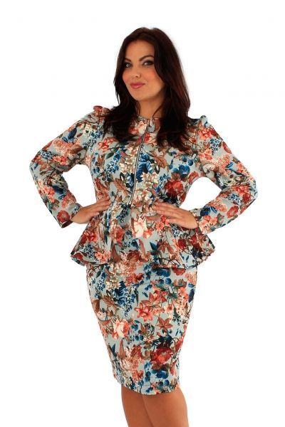 Fearne Peplum Jacket and Skirt Suit (UK 20)