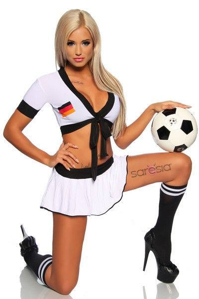 Football Cheerleader Fancy Dress Costume (UK 12 / 14)