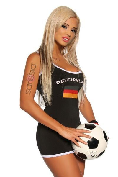 Football Player Micro Mini Dress Costume (UK 12 - 14)