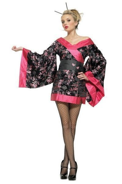Geisha Girl Fancy Dress Costume (UK 8 - 10)