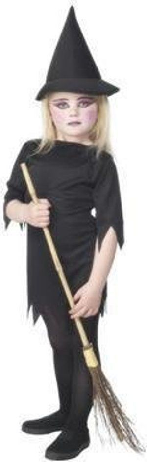 Girls Halloween Witch Fancy Dress Costume (Age 3 - 4)