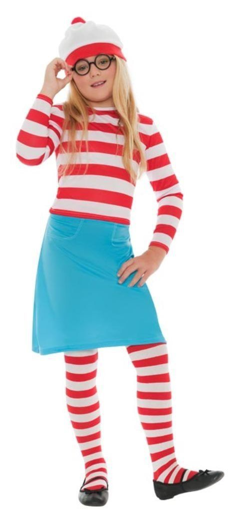 Girls Where's Wally Fancy Dress Costume (Age 7 - 9)