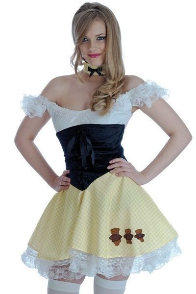 Goldilocks Fairytale Fancy Dress Costume (UK 16-18)