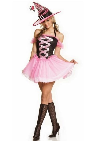 Good Pink Witch Halloween Fancy Dress Costume (UK 10 - 12)