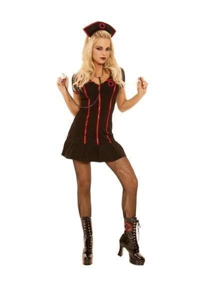 Gothic Nurse Fancy Dress Costume (UK 10 - 12)