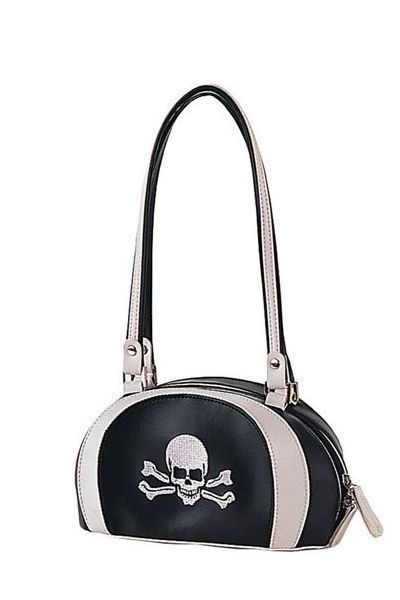 Gothic Skull And Cross Bones Shoulder Bag