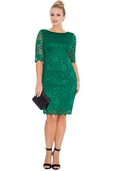 Green Emerald Knee Length Midi Dress (UK16 / 18)