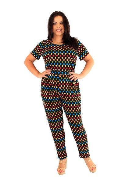 Kyra Plus Size Spotty Jumpsuit (UK 22)