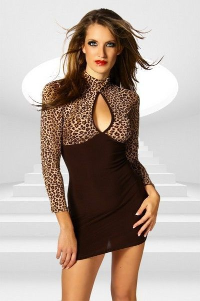 Leopard Print Mini Clubwear Dress (UK 8 - 10)