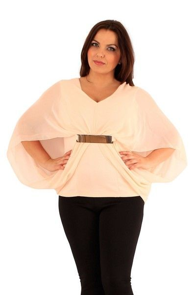 Liv Nude Drape Top (UK 22)