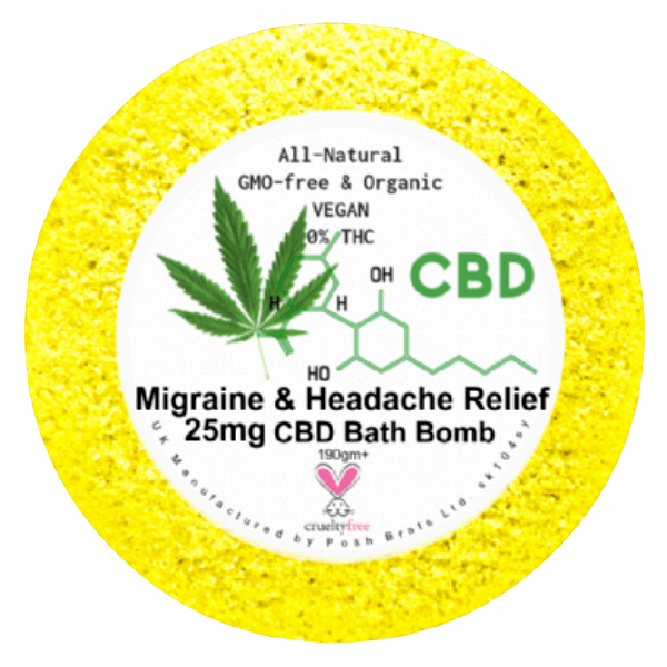Migraine Headache CBD Oil Hemp Vegan Bath Bomb Deal Kent UK | Bonnebombe
