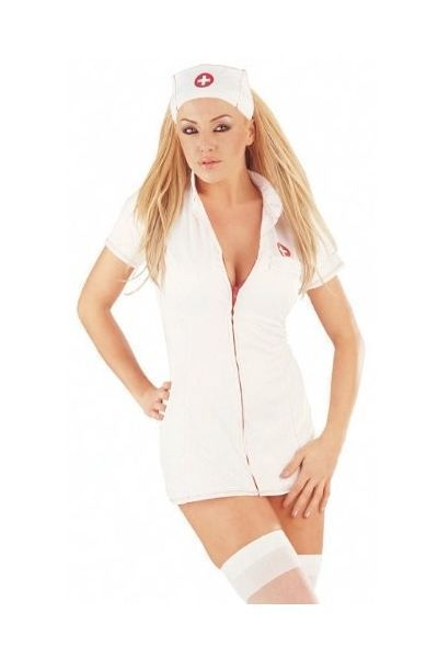 Mini Dress Nurse Fancy Dress Costume (UK 16-18)
