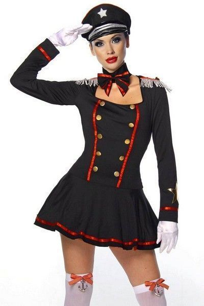 Navy Admiral Fancy Dress Costume (UK 16-18)
