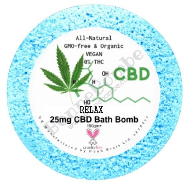 Relax Essential Oil Aromatherapy Bath Bomb with 25mg CBD